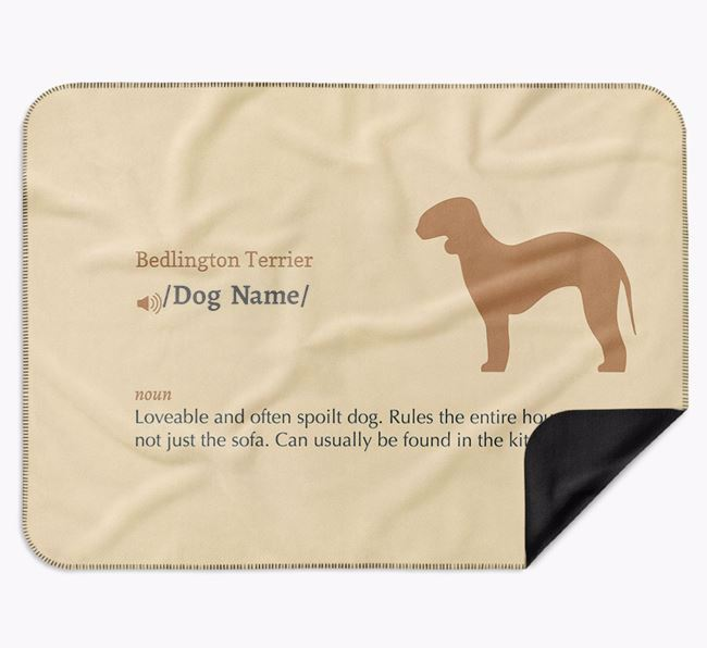 Personalised Definition Blanket with Bedlington Terrier Silhouette