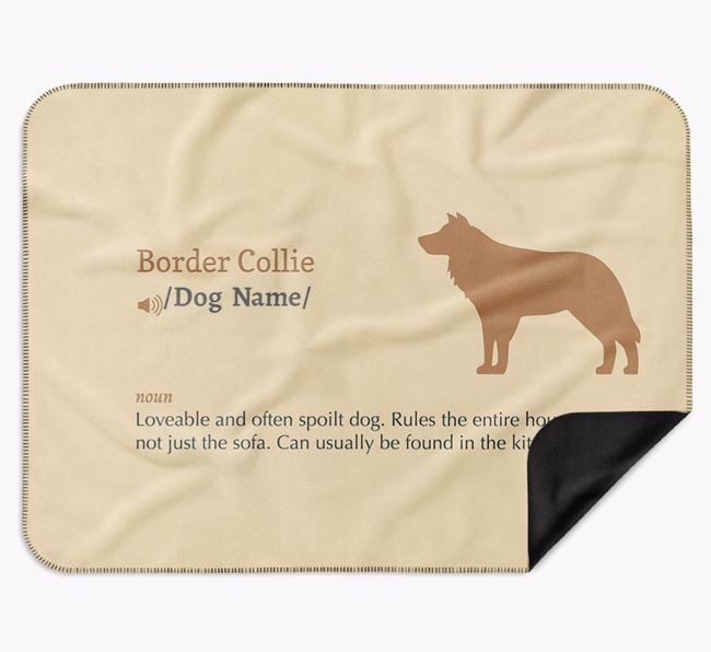 Personalised Definition Blanket with Border Collie Silhouette