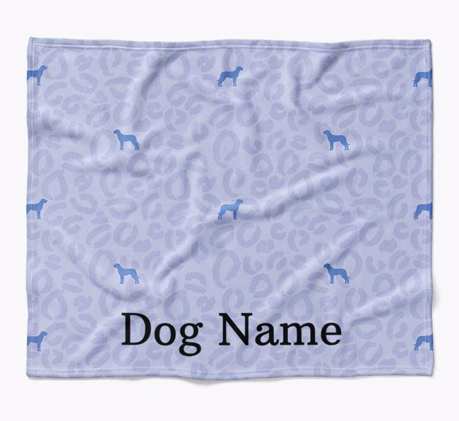 Personalized Leopard Print Beauceron Blanket