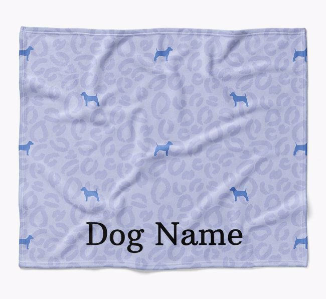 Personalized Leopard Print Dog Blanket