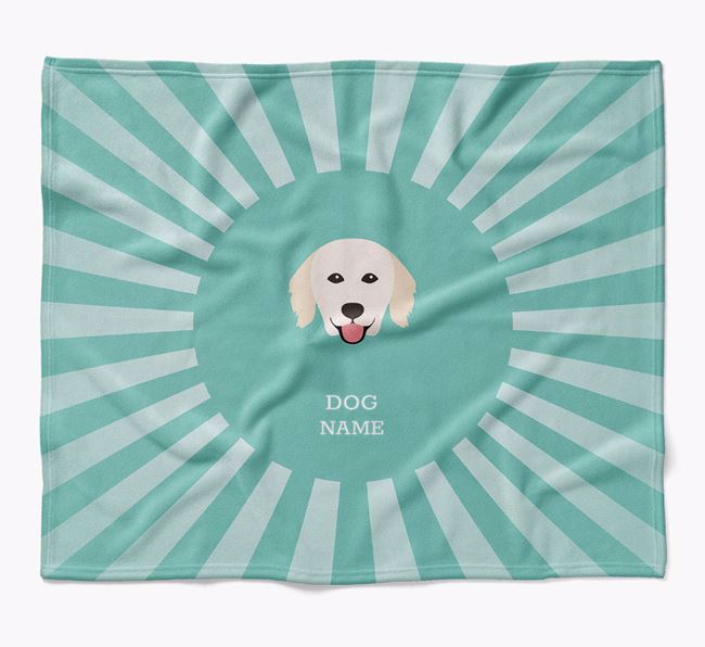 Personalized Rays Blanket for your Hungarian Kuvasz