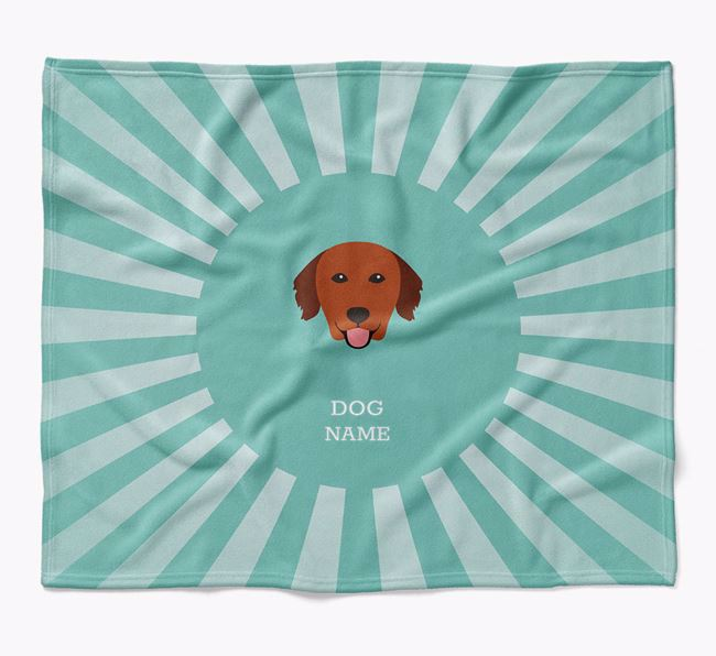 Personalized Rays Blanket for your Nova Scotia Duck Tolling Retriever