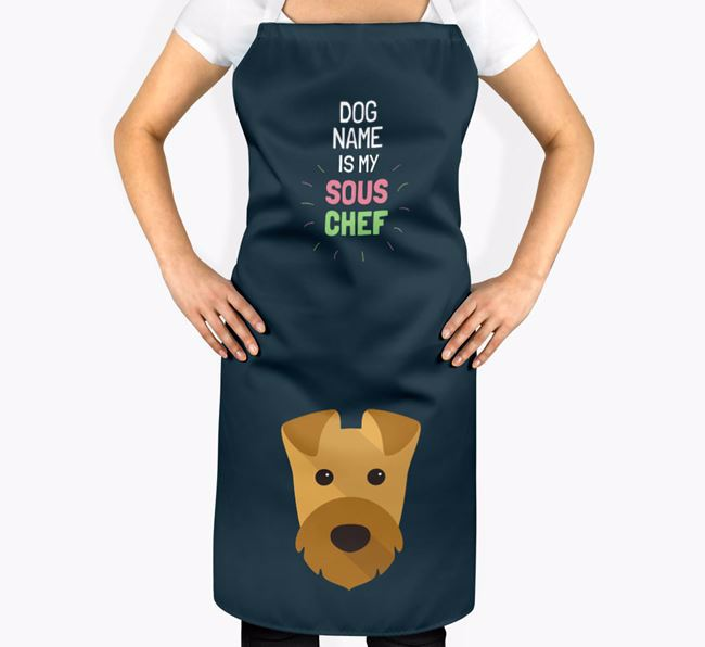 ' is my Sous Chef' Apron with Airedale Terrier Icon
