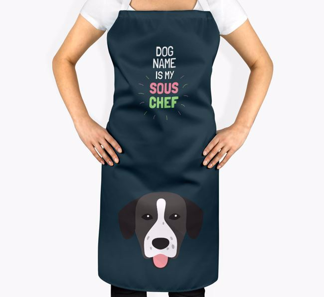 ' is my Sous Chef' Apron with Springador Icon