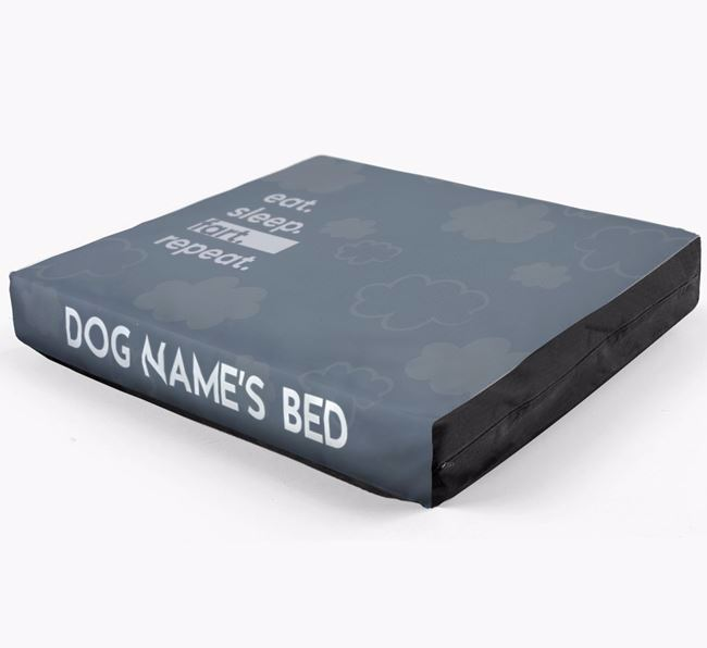 'Eat, Sleep, Fart, Repeat' Dog Bed for your Beagle