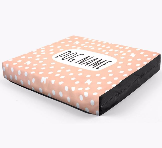 Personalised 'Polka Dot' Dog Bed for your Bichon Frise
